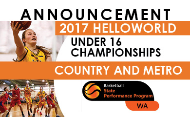 Under 16 State Team Announcement