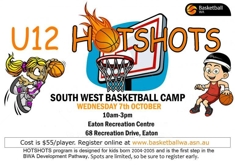 U12 Hot Shots South West Camp announced