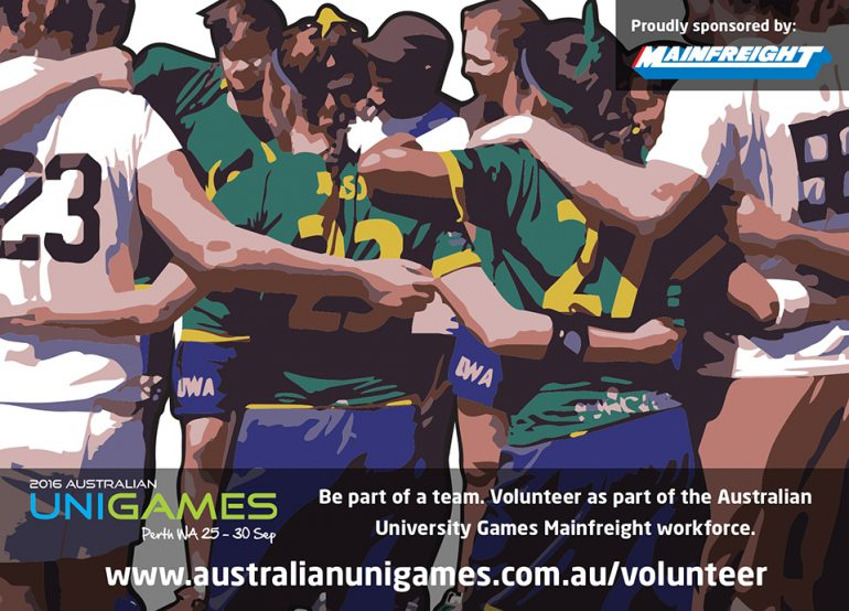 Be Part of the 2016 UniGames Delivery Team