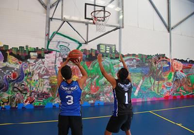 Basketball at Banksia building links