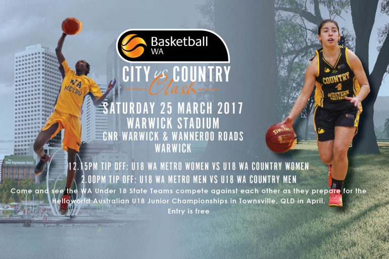 2017 Under 18 State Teams City v Country Clash