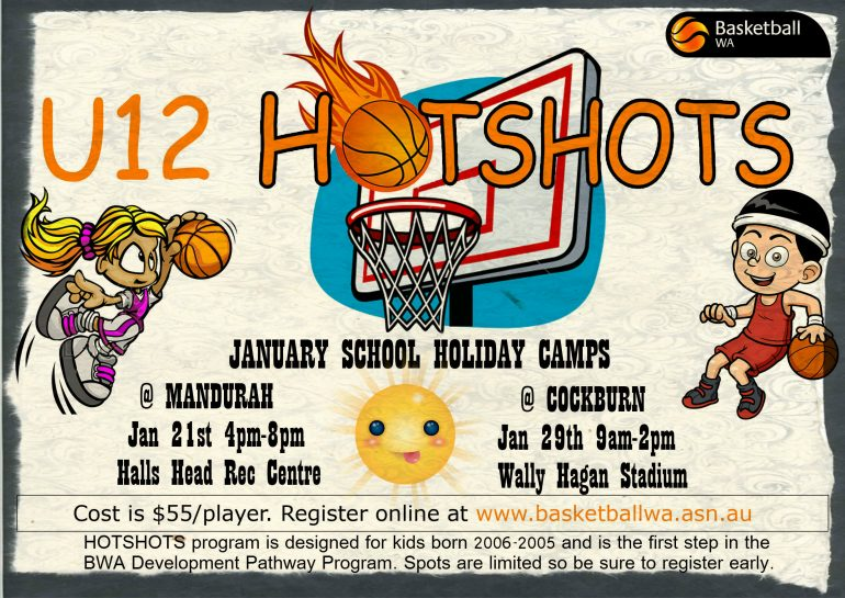 U12 Hot Shots – January School holidays