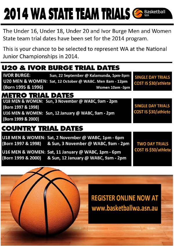2013/14 State Team Trials, Registrations Now Open