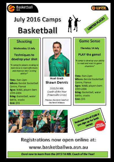 2016 July School Holiday Specialist Camps