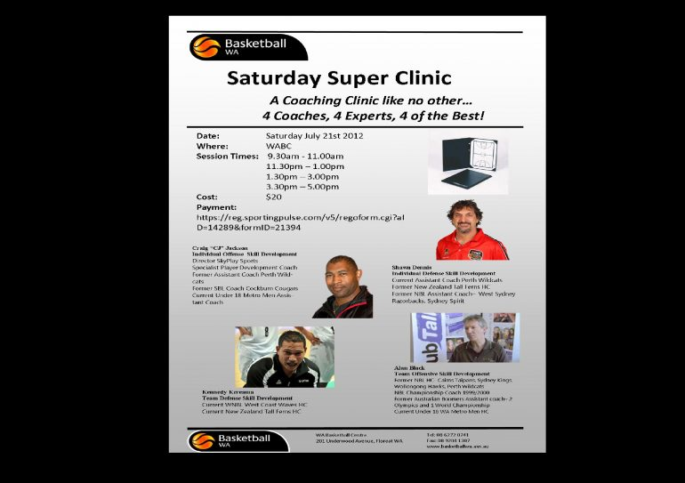 Saturday Super Clinic A Success