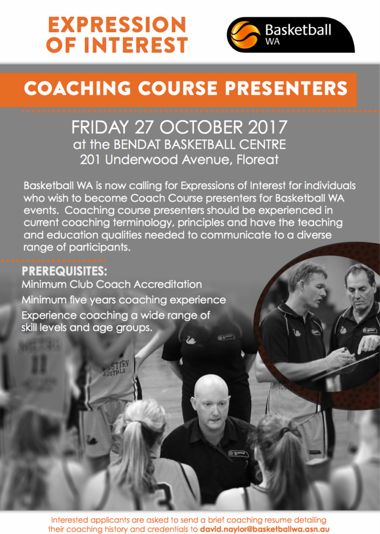 Become a BWA Coach Course Presenter