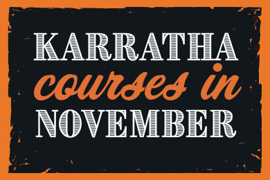 Karratha – Development Courses in November