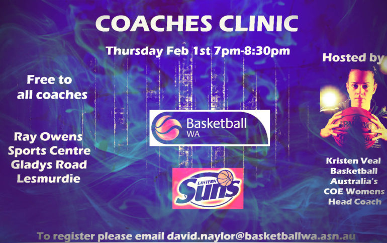 Coaches Clinic with Kristen Veal