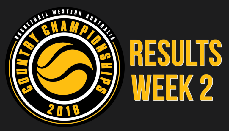 Country Champs – Week 2 Results