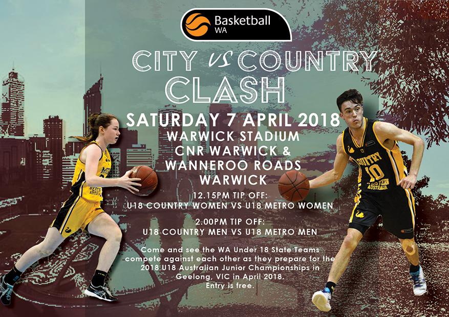 2018 U18 State Teams City v Country Clash – Basketball WA