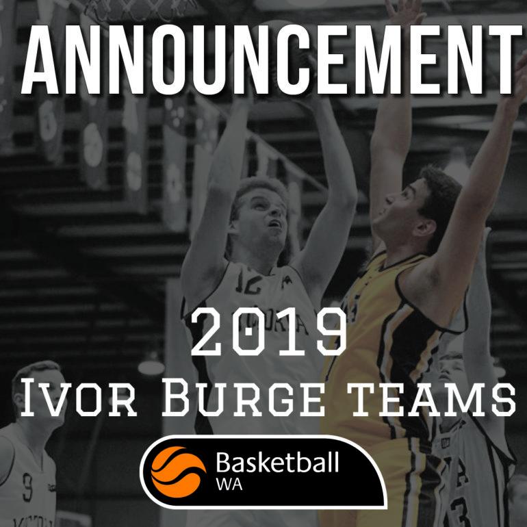 2019 Ivor Burge Men's Team Announcement