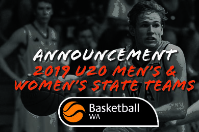 ANNOUNCEMENT – 2019 U20 Men's & Women's State Teams