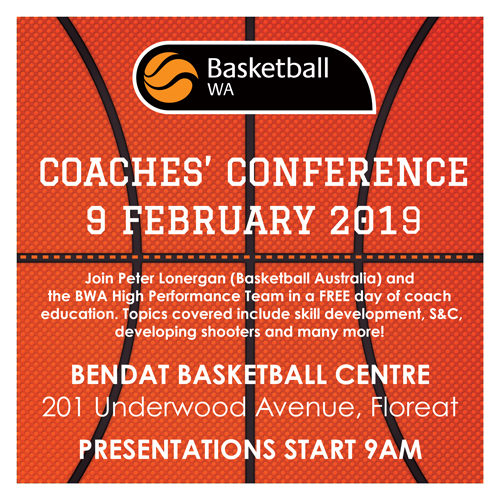 BWA Coaches Conference Line Up – 9 February 2019