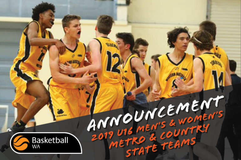 Announcement – 2019 U16 Australian Junior Championships – State Teams