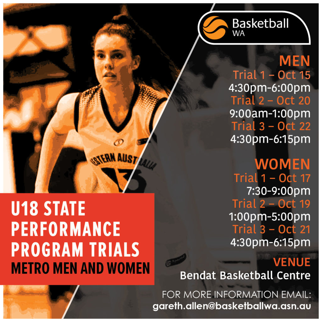 U16 and U18 SPP/STATE TEAMS – Basketball WA