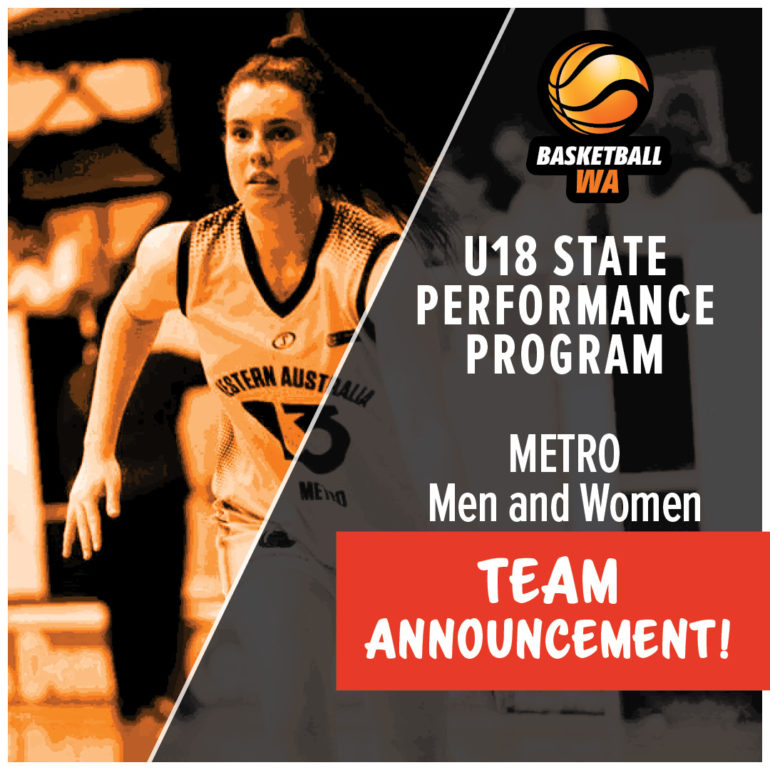Announcement – U18 Metro State Performance Program (SPP) Squad 2019/20
