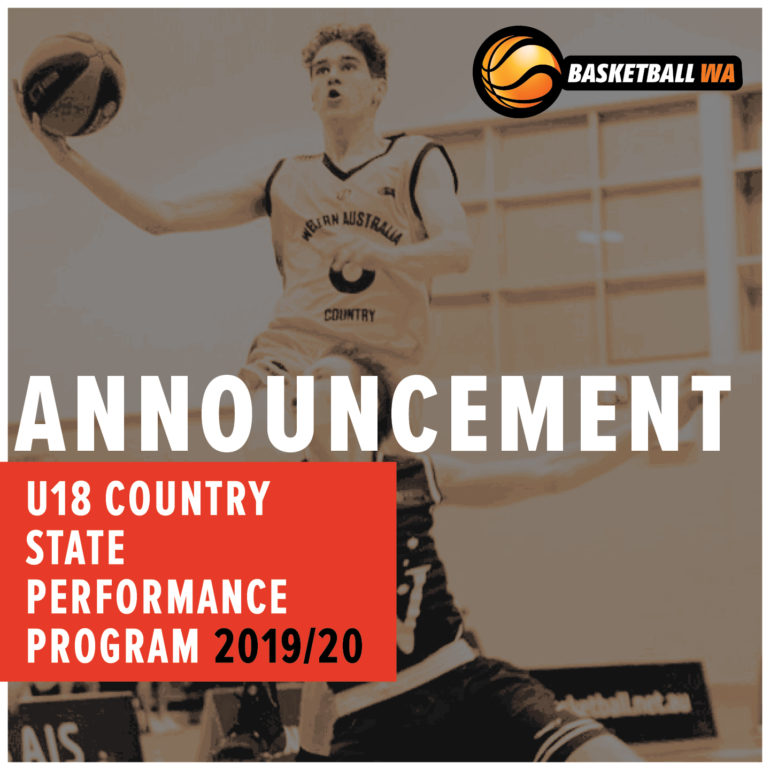 Announcement – U18 Country State Performance Program (SPP) Squad 2019/20