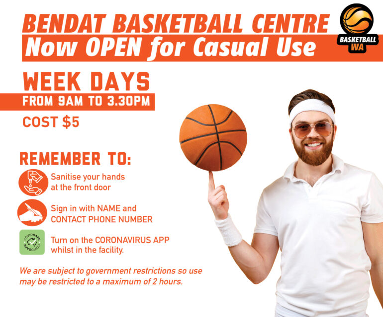 Bendat Basketball Centre – Open for Casual Use – Week days