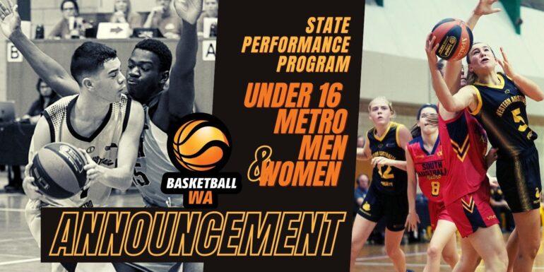 ANNOUNCEMENT – 2021 U16 SPP – Metro Women & Men – Squad List