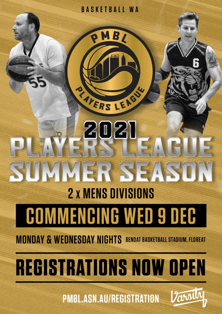 Players League – 2021 Summer Registration Open