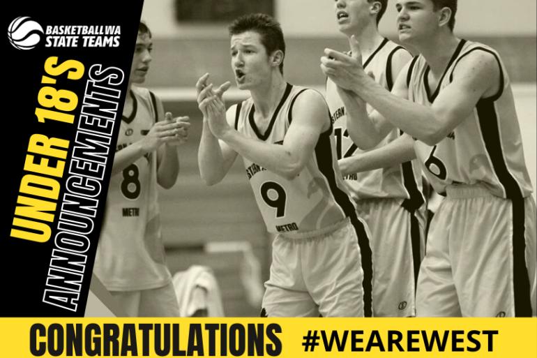 2021 Western Australian U18 State Basketball Teams